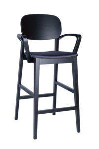 Hoker nowoczesny BST-ALLEGRI 2 krzesło barowe z podłokietnikami nowośc 2020