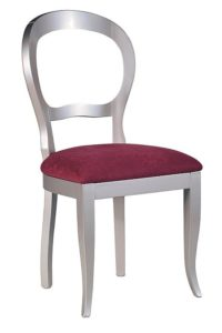 Stylowe krzesło srebrne A-1069-V
