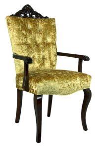 Fotel włoski stylizowany B-1095-V tapicerowany