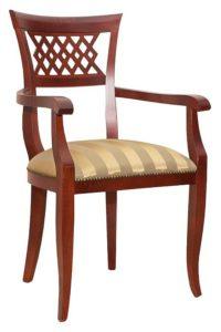 Stylowe krzesło z podłokietnikami BK-9864 typu Biedermeier
