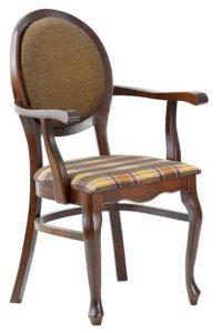 Stylowy fotel restauracyjny BR-9702 typu medalion fameg