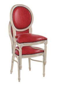 Krzesło stylowe do restauracji A-1001-VPST sztaplowane białe