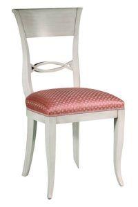 Stylowe białe krzesło A-1072-V