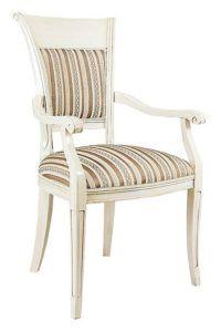 Fotel stylizowany biały B-1004-V