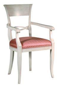 Fotel stylizowany biały B-1072-V