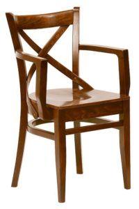 Krzesło restauracyjne stylowe z podłokietnikiem BL-0145