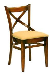Krzesło drewniane AL-0145 typu crossback lub A-9907/2 Bistro 1 fameg lub A-5245 paged