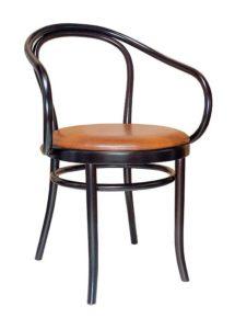 Fotel z podłokietnikami BG-9 - O z siedziskiem tapicerowanym