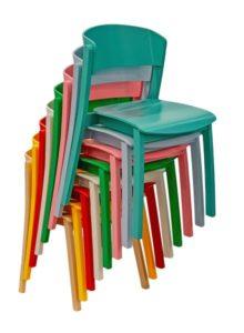 Krzesło nowoczesne CAVA AS sztaplowane do restauracji