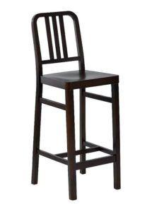 Hoker drewniany ALCATRAZ BSN kultowe krzesło barowe