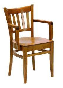 Fotel drewniany BR-9907-W typu B-5210 paged