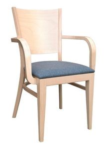 Fotel drewniany BT-3917 ST sztaplowany/nastawny