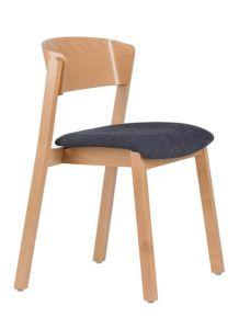 Krzesło nowoczesne CAVA-AS tapicerowana