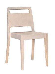 Sztaplowane krzesło nowoczesne BURTON-AN kolor biały sprany Meble Radomsko