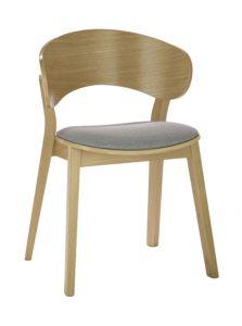 Designerskie nowoczesne krzesło dębowe DOMA-AS tapicerowane Nowość od Meble Radomsko