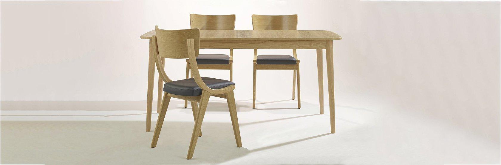 Stół ST-Bent i krzesła Bent-A