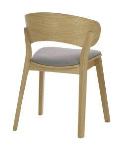 Nowoczesne krzesło dębowe DOMA-AS tapicerowane