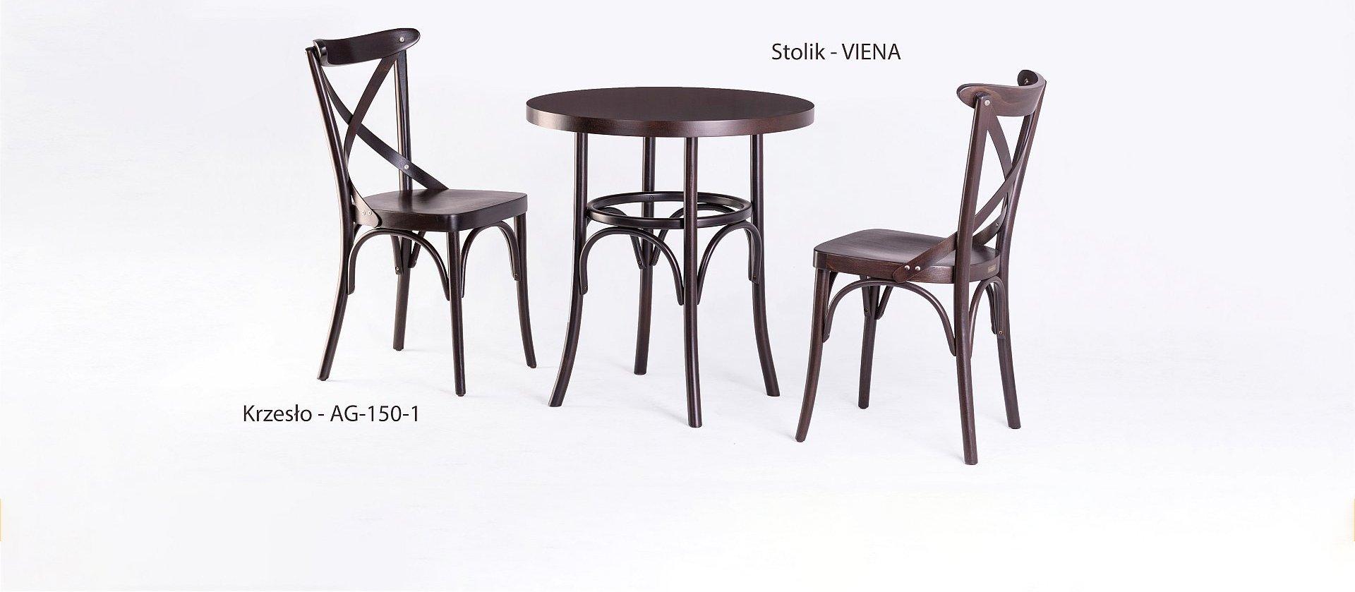 Stół VIENA i krzesła gięte AG-150-1