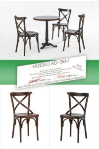 Krzesło gięte AG-150-1 Promocyjna cena na krzesło Thoneta typu A-8810/2 fameg