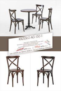 Promocja na krzesła giete drewniane