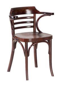 Fotel gięty drewniany do restauracji BG-763-3 krzesło restauracyjne typu B-0542 fameg