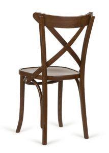Krzesło gięte AG-150P z krzyżem w oparciu