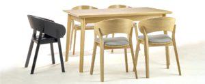 Designerski stół i krzesła DOMA projektu Yago Sarri