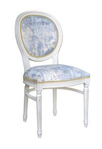 Krzesło stylowe A-1001-VU typu Ludwik XVI kolor biały z półobręczą