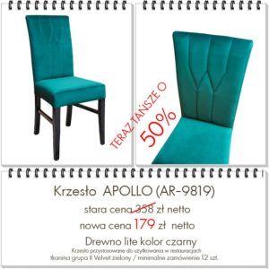 Promocja krzeseł tapicerowanych nowoczesnych APOLLO