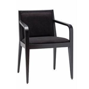 Czarny fotel nowoczesny tapicerowany IPO BS