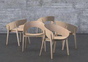 Designerski fotel dębowy DOMA